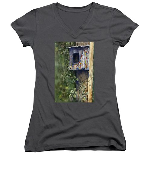 Modern Feathered Friends Women's V-Neck (Athletic Fit)