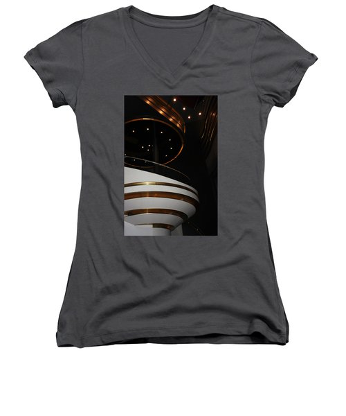 Modern Loge Women's V-Neck T-Shirt (Junior Cut) by Kristin Elmquist