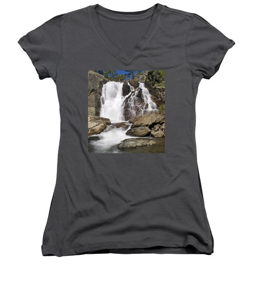 Modjesku Falls Women's V-Neck T-Shirt (Junior Cut)