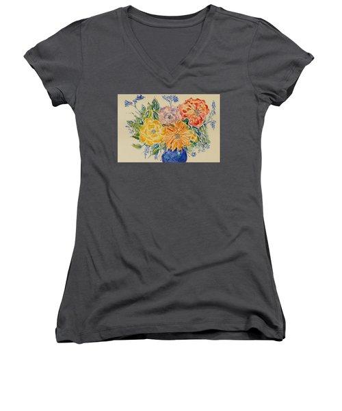 Bouquet Of Love Women's V-Neck (Athletic Fit)