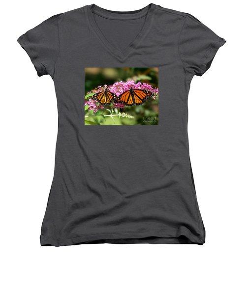 Monarch Butterflies Women's V-Neck