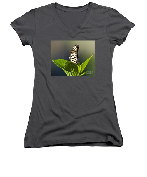Monark Butterfly No. 2 Women's V-Neck T-Shirt