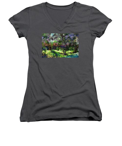 Monet's Garden Women's V-Neck T-Shirt