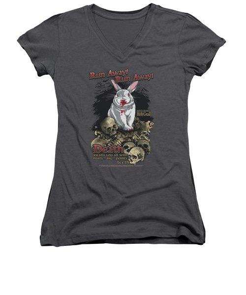 Monty Python - Run Away Women's V-Neck T-Shirt (Junior Cut) by Brand A
