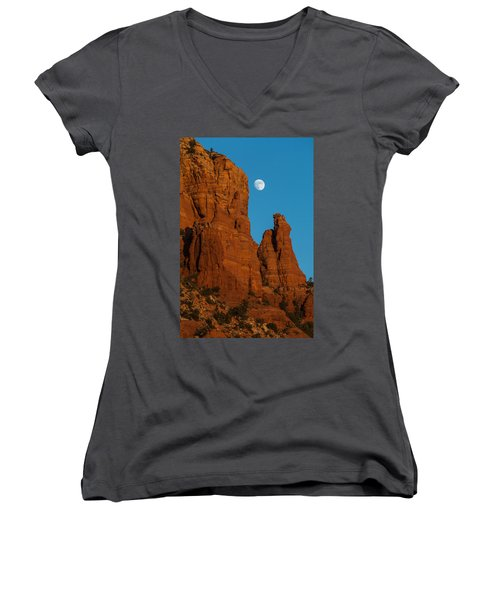 Moon Over Chicken Point Women's V-Neck