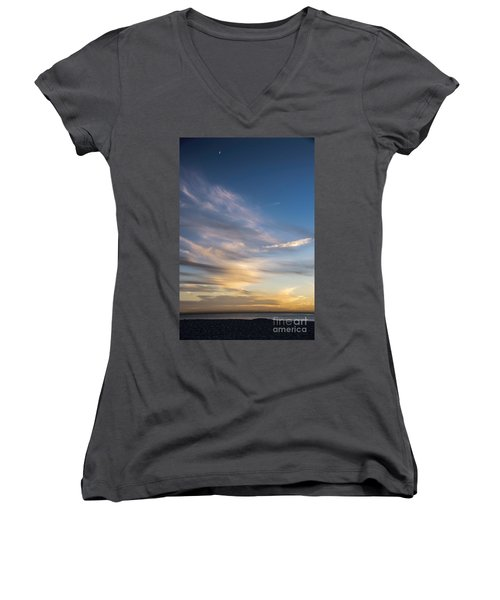 Moon Over Doheny Women's V-Neck T-Shirt