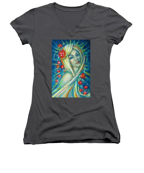 Moonlight Flowers 030311 Women's V-Neck
