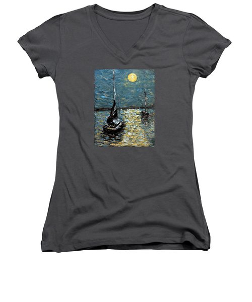 Moonlight Women's V-Neck T-Shirt