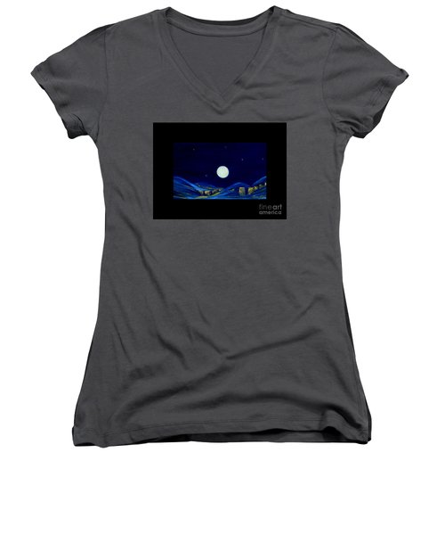 Moonlight. Winter Collection Women's V-Neck (Athletic Fit)