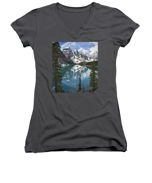 Moraine Lake Overlook Women's V-Neck (Athletic Fit)