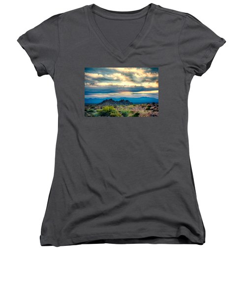 Morning Desert Glow Women's V-Neck (Athletic Fit)