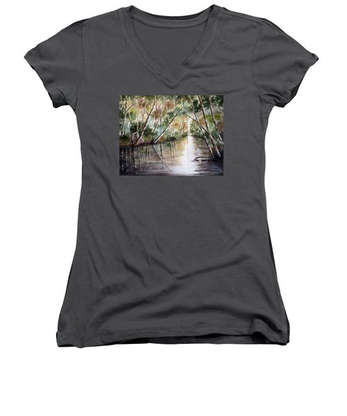 Morning Reflections Women's V-Neck T-Shirt