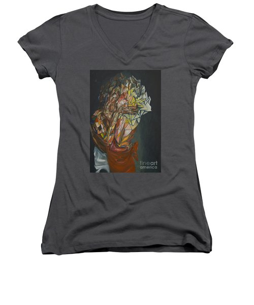 Mosaic Embrace Women's V-Neck