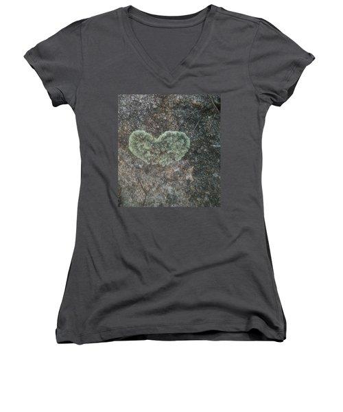 Moss Heart  Women's V-Neck