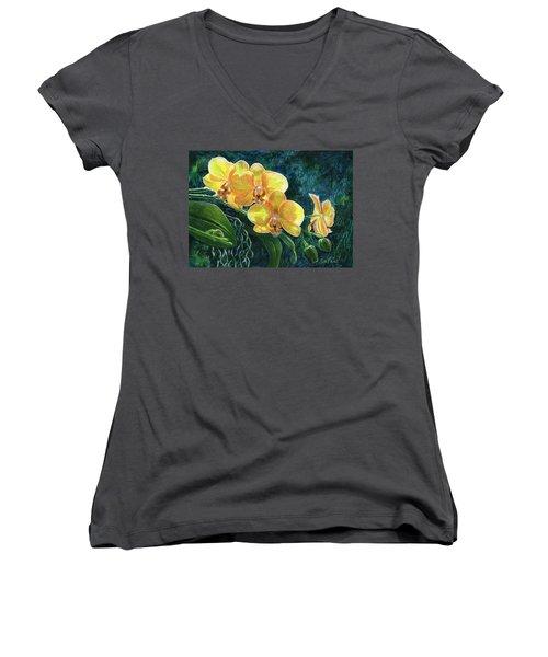 Moth Orchids Women's V-Neck T-Shirt