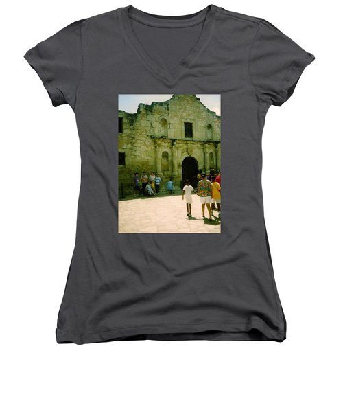Mother And Family Women's V-Neck T-Shirt (Junior Cut) by Amazing Photographs AKA Christian Wilson