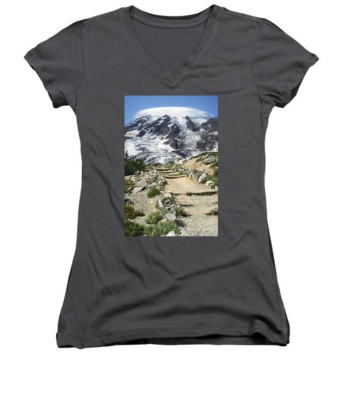 Mount Rainier Trail Women's V-Neck (Athletic Fit)