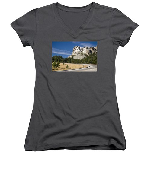Mount Rushmore Women's V-Neck (Athletic Fit)