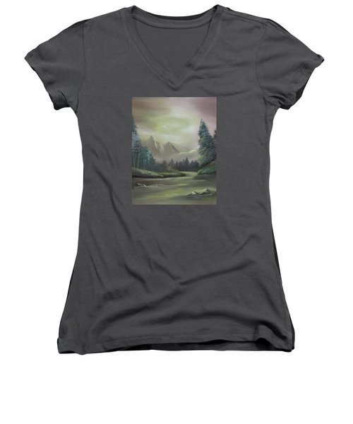 Mountain River Women's V-Neck T-Shirt