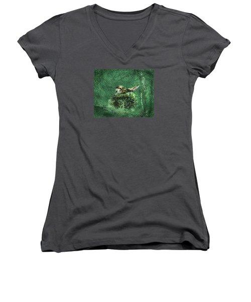 Mrs. Rufous Women's V-Neck T-Shirt