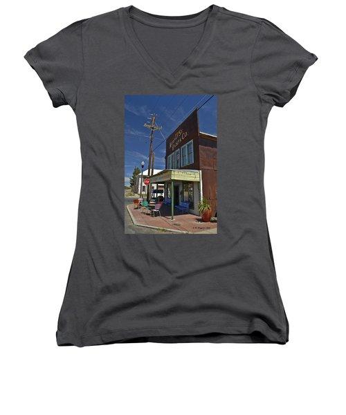 Murphy Street Raspa Women's V-Neck T-Shirt (Junior Cut) by Allen Sheffield