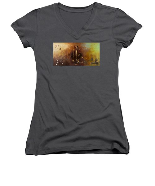 Music All Around Us Women's V-Neck (Athletic Fit)