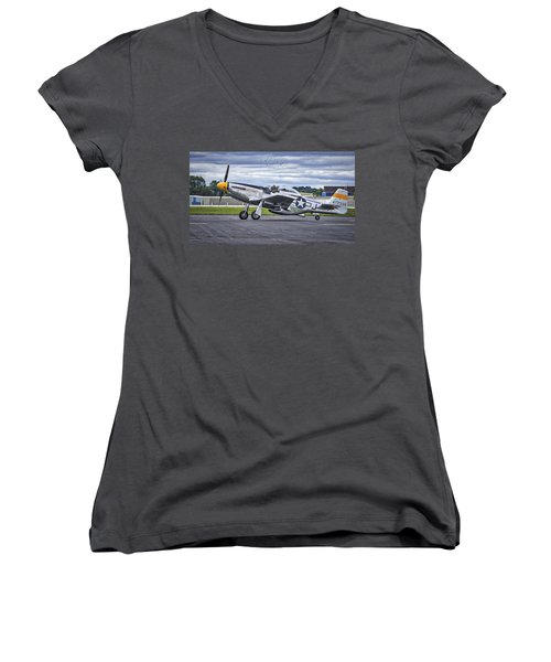 Mustang P51 Women's V-Neck (Athletic Fit)