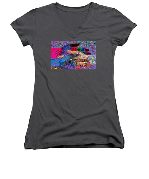 My Hand   Your Hand  And A Helping Hand Women's V-Neck T-Shirt