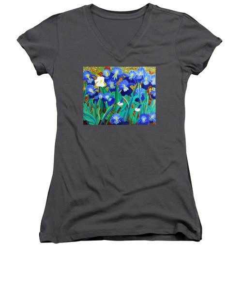 My Iris - Inspired  By Vangogh Women's V-Neck (Athletic Fit)