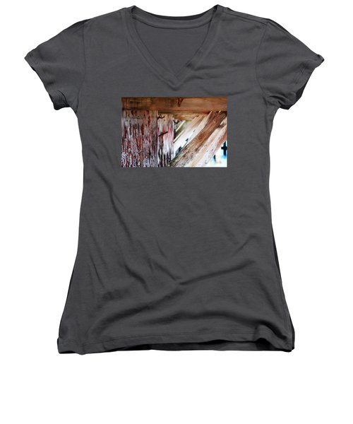 Nailed It Women's V-Neck T-Shirt (Junior Cut) by Holly Blunkall