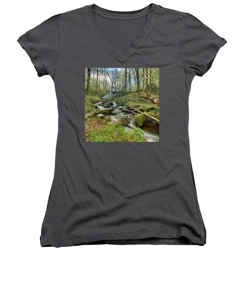 Naked Creek Falls Women's V-Neck