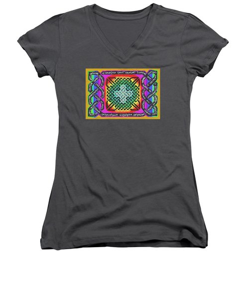 Names Of Yhwh Women's V-Neck