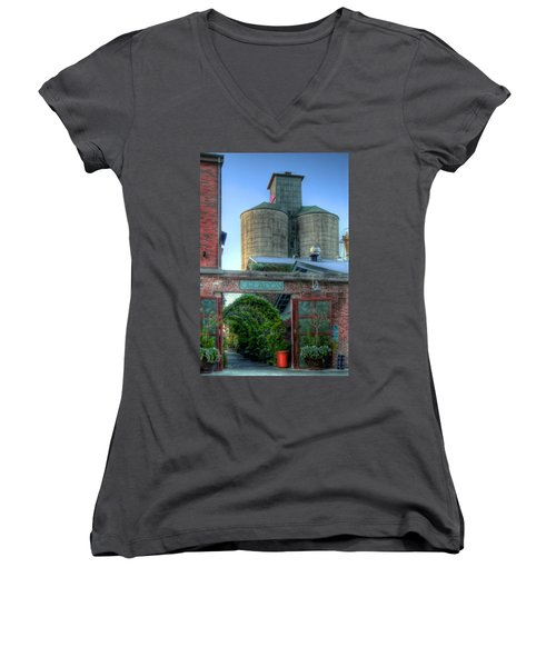 Napa Mill Women's V-Neck T-Shirt (Junior Cut) by Bill Gallagher