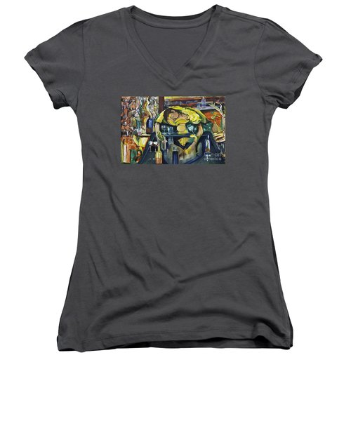 Narcisisstic Wine Bar Experience - After Caravaggio Women's V-Neck T-Shirt