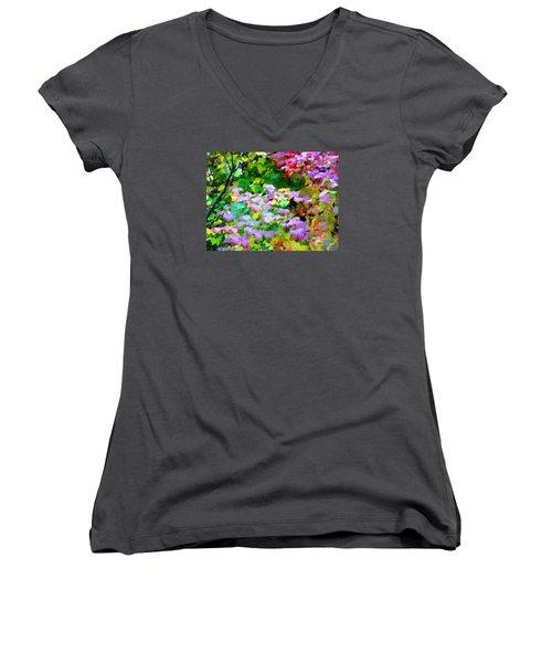 Nature Spirit Women's V-Neck T-Shirt (Junior Cut) by Oleg Zavarzin
