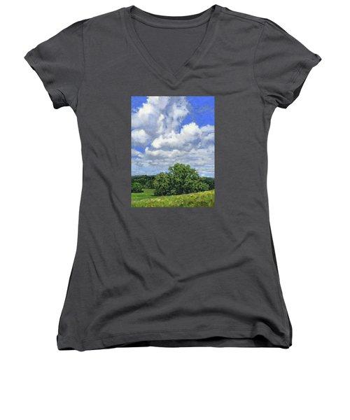 Nearly September Women's V-Neck T-Shirt (Junior Cut) by Bruce Morrison