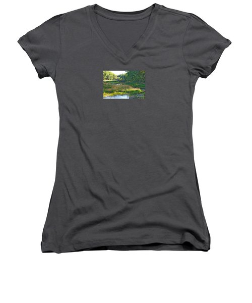 Nemasket River  Women's V-Neck (Athletic Fit)