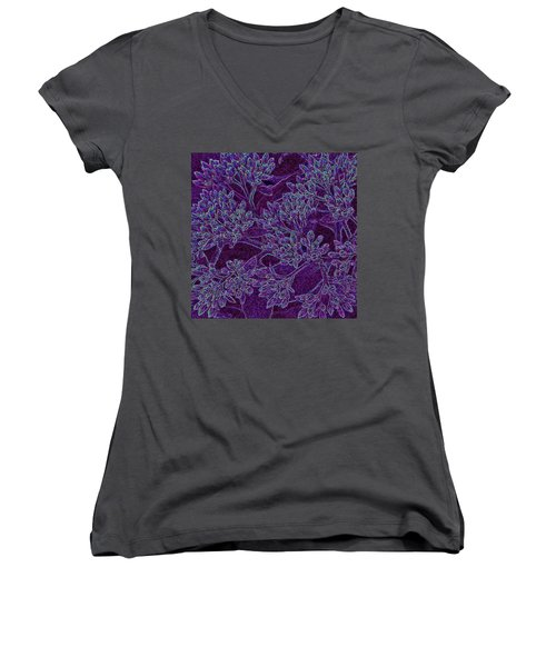 Neon Blossoms Women's V-Neck (Athletic Fit)