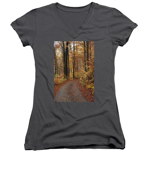 New Autumn Trails Women's V-Neck