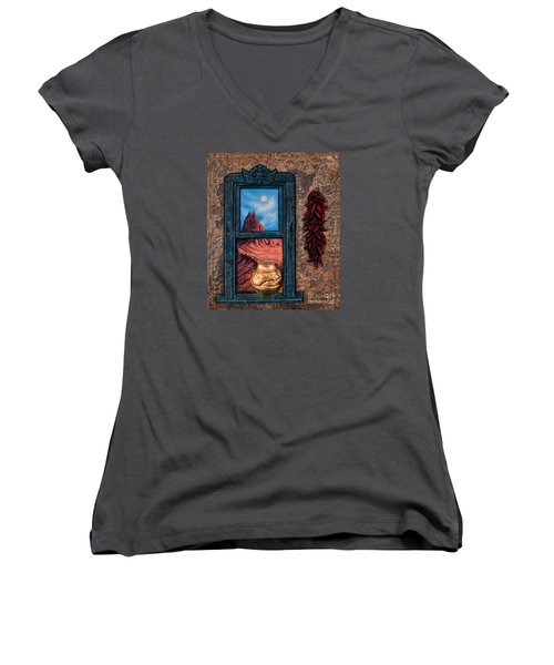 New Mexico Window Gold Women's V-Neck