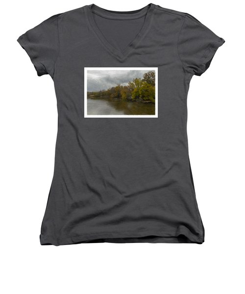 New Milford By Water Side Women's V-Neck T-Shirt