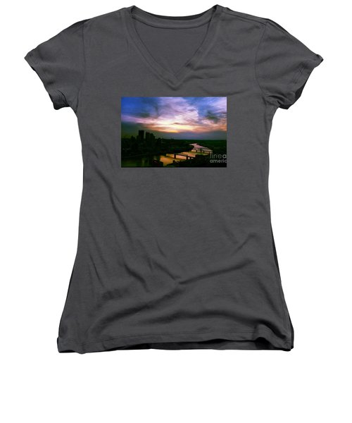 New Slate  Women's V-Neck (Athletic Fit)