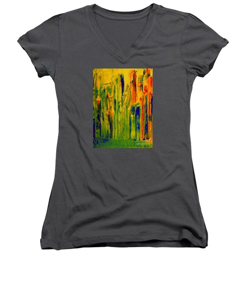 New York On A Hot June Morning Women's V-Neck (Athletic Fit)