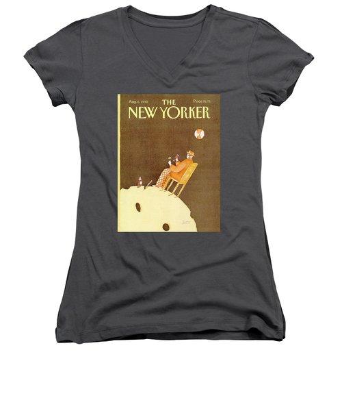 New Yorker August 6th, 1990 Women's V-Neck