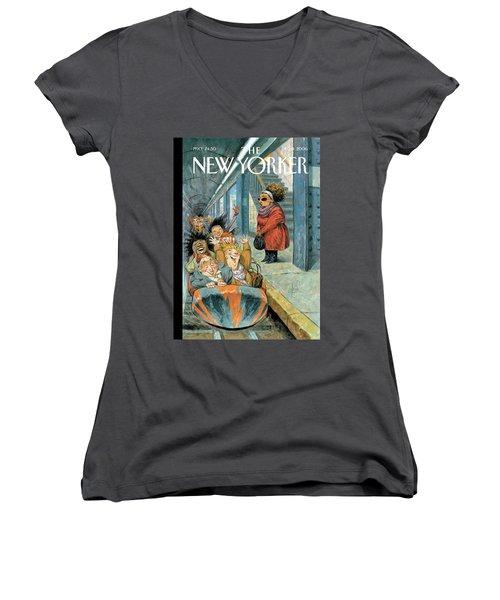 New Yorker December 11th, 2006 Women's V-Neck