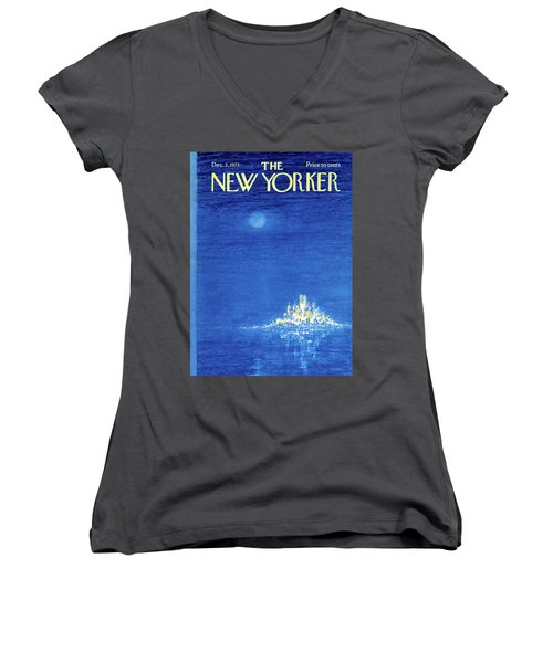 New Yorker December 3rd, 1973 Women's V-Neck