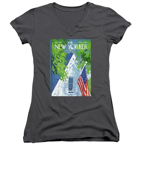 New Yorker July 2nd, 1966 Women's V-Neck