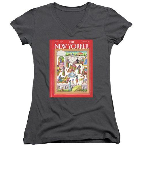 New Yorker June 1st, 1992 Women's V-Neck