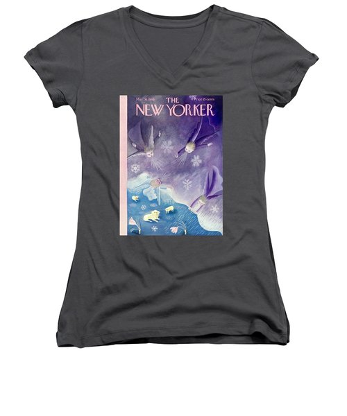 New Yorker March 30 1940 Women's V-Neck (Athletic Fit)