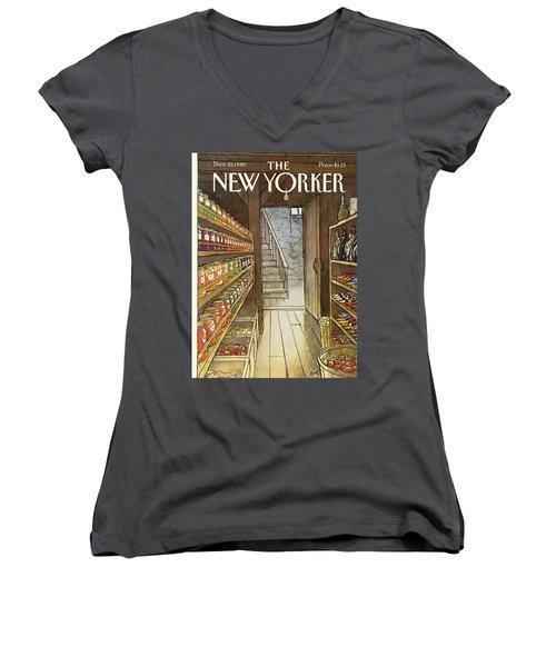 New Yorker November 10th, 1980 Women's V-Neck
